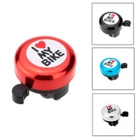 Wholesale Bicycle Bell I Love My Bike Printed Clear Sound Cute Bike Horn Alarm Warning Bell Ring