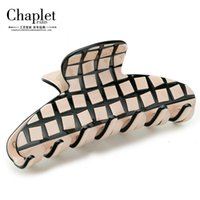 Wholesale Chaplet New Classic Women Hair Accessories Jewelry Clamps Grid Hair Claws High Quality Multicolor Ladies Hair Claws