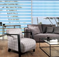 Wholesale Custom Made Polyester Translucent Roller Zebra Blinds in Blue Window Curtains for Living Room Colors are Available