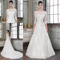 beads fairy - White lace bohemian fairy detachable skirt wedding dresses Chapel Train with sleeves chiffon beads country style Bride gowns QW806