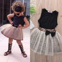 baby leopard pics - Toddler Girl Clothing Sets Vest Shorts Pics Suits New Summer Children Clothing Sets Baby