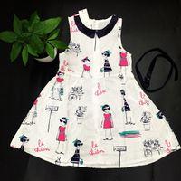 alternative shipping - fashion hot selling girls vestidos personalized alternative style floral character print lovely princess children vestidos