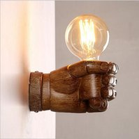 antique style wall lights - 2016 new Nordic Loft Style Creative Resin Fist Wall Sconce Industrial Vintage Wall Light For Home Antique LED Wall Lamp Indoor Lighting