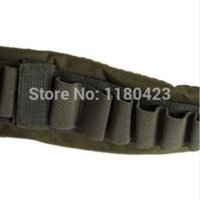 Wholesale High Quality Adjustable Durable Bandolier Ammo Belt Shotgun Shells Belt Waist Band Army Green Hunting Gun Accessories