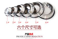 Wholesale PC Hot Newest Stainless Steel Standard Pet Dog Puppy Cat Food or Drink Water Bowl Dish Size