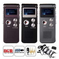 audio digital display - 8GB Memory Digital Voice Recorder D Sound Audio Recorder LCD Display MP3 Player Color Option
