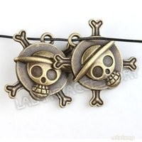 badge clamp - Promotion Vintage Charms Badges with Skull Antique Bronze Pendant Zinc Alloy Fit Jewelry DIY mm142321