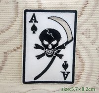 ace of bags - Ace of Spades Skull Sickle Death Card Evil Poker Iron on Embroidered patch Gift shirt bag trousers coat Vest Individuality