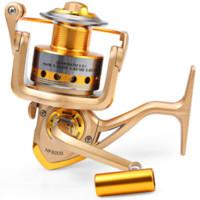Wholesale Ultra thin HF1000 Fishing Reel Ball Bearings fishing Reel Spinning Exchangable Foldable Handle Fishing Reel