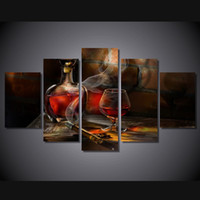 Wholesale 5 Panel HD Printed Cigar bottle image Painting Canvas Print room decor print poster picture canvas cheap wall frames