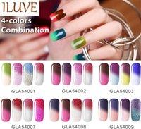 Wholesale ILUVE Nail Polish Soak Off Nail Gel For Art Beauty Salon UV Gel Colors ml Supply Temperature Change Gel Polish