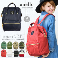 big canvas backpack - Japan Anello Original Backpack Rucksack Unisex Canvas Quality School Bag Campus Big Size colors to choose