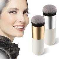 big round brush - 100PCS NEW Arrive Beauty Foundation BB Cream Cheek Blush Round Big Head Portable White Color Single Makeup Brush style DHL