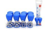 Wholesale 2016 Hot Acupressure Magnetic Suction Cupping set HACI New Needle Cups Ten years updated Health Care