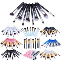 ups - 10pcs set Makeup Brushes Professional Set Cosmetics Brand Foundation Brush tools For Face Make Up Beauty
