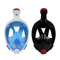 Wholesale Seaview Full Face Snorkeling Mask Degree Dry Wide Vew Easy Breath Snorkel Mask Anti fog Snorkeling Mask Sizes Blue Black