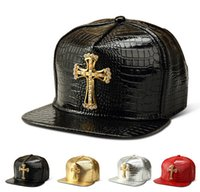 black jesus - Baseball PU Hats Solid Cross Jesus Pendant Casual Snapback Cap Rhinestone Logo Hip Hop Rap Snapback for Men Women Golden Silver