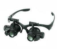 Reloj de la joyería 10X 15X 20X 25X Lupa Lupas Resina Ojo de reparación de la lupa de los vidrios con 2 luces LED Nueva lupa del microscopio