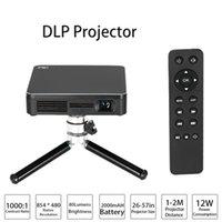 Acheter Pcs jeux-HDP200 Projecteur DLP LED HD 1000: 1 Rapport de contraste WiFi Miracast Airplay HDMI Avec Trépied pour Home Cinéma Téléphones Jeu PC Camera