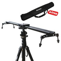 Wholesale New Professional Portable Commlite cm quot Sliding pad Video Camera Track Slider Dolly Stabilizer System for DSLR