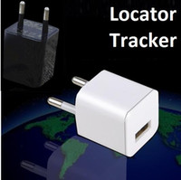 Wholesale Super Charging head monitor locator GSM GPRS Quad band Voice dial back Environmental monitoring Mini USB charger for iphone sumsung mobiles