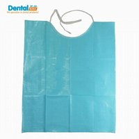 bib material - Disposable Dental bib with tie ply paper ply film dental treatment material accessory dental bib