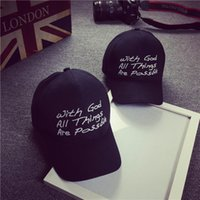 baseball things - 2016 with god all things are possible Snapback Hat Adjustable cap Sport Baseball Cap For Men Women Sun Golf hat