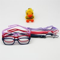 bendable glasses - Kids Glasses Frame with Strap Size One piece No Screw Y Bendable Optical Children Glasses for Boys Girls