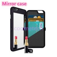 apple cosmetic case - iFrogz iphone S Mirror Cases Multi Function Card Slot Holder PC Wallet Pouch Case Girls Cosmetic Mirror Cover for iphone S plus