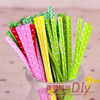Wholesale 1000pcs colors Polka Dots Twist Ties For Cookie Bakery Gift Cello Bags Sealing length CM