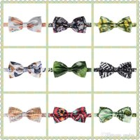 Wholesale Men s Bow tie Fullprint Bow Tie Multicolor Plain Silk Polyester Bow Ties Whole Sale For Party Wedding