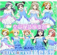 Wholesale New Anime Love Live Cos Minami Kotori Sonoda Umi Cosplay Halloween All Members Summer Dresses Full Set in1 Dresses Neck ornamen