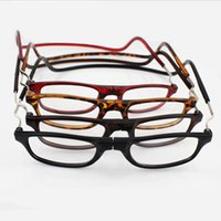 Wholesale Hot sell magnetic reading glasses folding reading eyewear hanging connecting presbyopic glasses