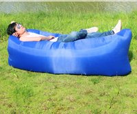 Wholesale Inflatable sofa portable bag folding air Europe and the United States adult lazy sofa sofa bed