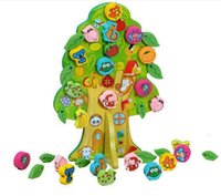 animal preschool games - Animals and fruit trees wooden toy math toys for kids baby montessori educational toys learning toys brinquedos children preschool play game