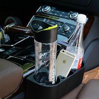 Wholesale 100pcs LJJL128 Car Valet Seat Storage Organizer Black Car Cup Drink Bottle Holder Phone Holder Box