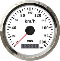 Wholesale 85mm White GPS speedometer km h for car truck CMSB WS L SV KY08122