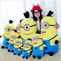 Wholesale 18cm plush toy Despicable me minion stuffed soft D eye minion kids toys soft cartoon kids plush puppet toy