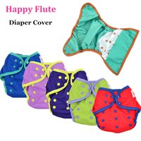 Wholesale 12pcs Happy Flute Diaper Cover One Size Cloth Diaper Waterproof PUL Breathable Reusable Diaper Covers for Baby Fit kg