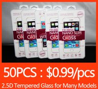 Wholesale 2 D Tempered Glass Screen Protector for iPhone SE S7 Edge S6 Edge Plus Glass iphone plus Samsung S4 S5 Note New LG G5