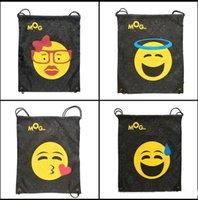 Wholesale Ins Emoji Drt ng Bag Gym Sm Shoe Bag E moji Poh Handbag Travel Storage Bag Beach Bag Underwear Waing Bg Portable Sng Bag