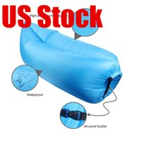 bag chairs children - 2017 In stock Lamzac Fast Inflatable Camping Sofa banana Sleeping Bag Hangout Nylon lazy lay laybag Air Bed chair Couch Lounger
