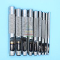 Wholesale New set Men and Women Leather Perforated Belt Pads Hollow Hole Steel Punch Machining Tool Suit mm order lt no track