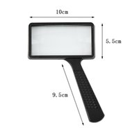 Wholesale high quality X Rectangular Handheld Large Reading Magnifying Glass Magnifier hot selling