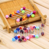 Wholesale 20pcs jewelry piercing tongue ring studs barbell bar ring