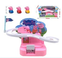 Wholesale Amusement Manual Peppa Pink Pig Climb Stairs Classic Set Toy For Kids Children
