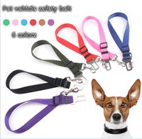 Wholesale Adjustable Dog Cat Pet Car Safety Seat Belt Black Pet Belt for Dog Blue Safety Seat Belt Red Amy Green Dog Belt