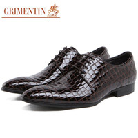 basics shoes - Fashion Italian summer men patent leather shoes casual crocodile style black brown basic flats shoes men luxury