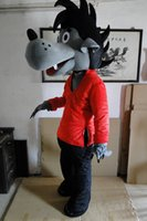 big bad wolf costume - quot Rabbit wait and see quot mascot costume Rabbits wait and see mascot Big bad wolf mascot costume