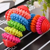 Wholesale Colorful Rubber Pet Dog Puppy Dental Teething Healthy Teeth Gums Chew Toys Tool JIA602 ZO030A